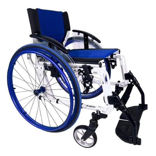 Sport Line fauteuil roulant aluminium pliage -  Le fauteuil roulant Sport Line de Forta est très léger et Deportiv à, avec le soutien actif très court pour les jeunes. Supermanejable et rapide grâce à ses roues avec la qualité des roulements. Il dispose de roues de 150 mm à l'avant...