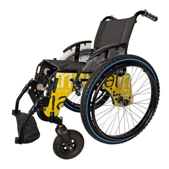 Paese di prova attivo sedia a rotelle - La carrozzina Trial Nazione di Forta è perfetto da usare per la campagna o la montagna e può essere utilizzato perfettamente come una sedia di tutti i giorni. Ha tutti vari servizi tra cui schienale abbattibile, terreno assi rimovibile,...