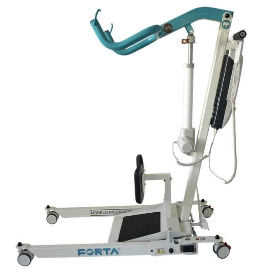 Crane standing (including harness) - The crane standing of Forta was designed to help stand up (vertical plane) to people with immobility. Its folding system makes it the smallest in the market when folded and can be easily stored in small spaces. It has an improved opening...