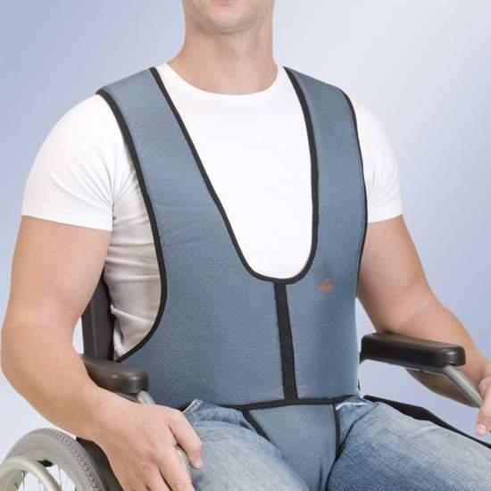 Chaleco con Pieza Perineal Arnetec Orliman - Chaleco de sujección con pieza perineal para silla con cremallera