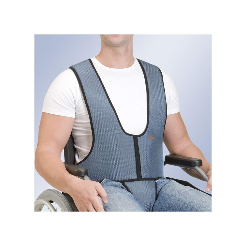 Parte perineal colete Arnetec Orliman - Colete com parte perineal aperto cadeira zipper