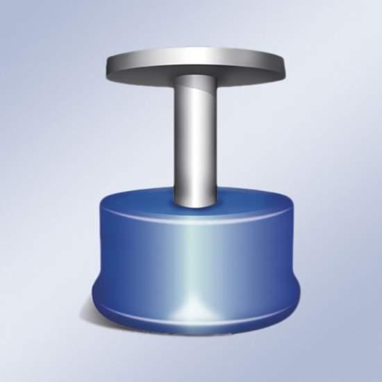 bouton magnétique -  une taille de bouton magnétique