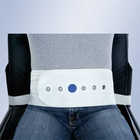 Arnes abdominale pour chaise ou fauteuil avec aimants Orliman