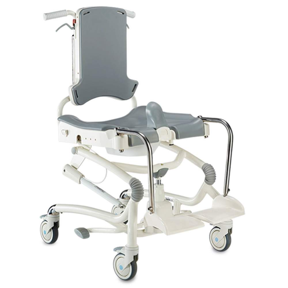 Heron chair swivel bath seat and shower - Its simple design and clean look hide multiple functional features that enhance the bathing experience both user and caregiver.