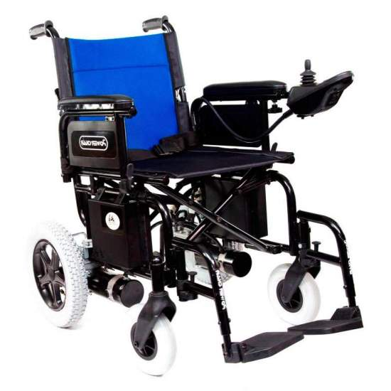 Wheelchair Power Chair Libercar - The chair market more competitive electric wheelchair. Its high performance (motor 340W, batteries 20Ah, speed 7km / h, digital joystick with progressive intensity ...) and versatility (folding width, height and length, footrest...