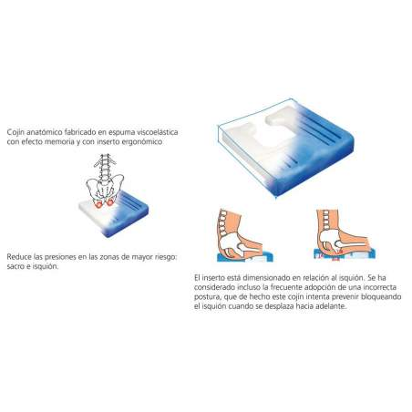 Cojín antiescaras ergonómico Viscoflex Plus C9