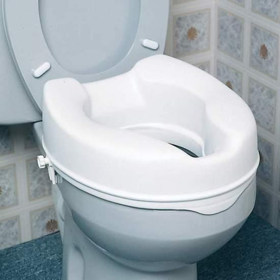 Asiento Elevador de WC de 15 cm  - Elevador de wc 15 cm de altura económico pero seguro y eficaz elevador es de plástico completamente sellado, que resiste los olores y las manchass