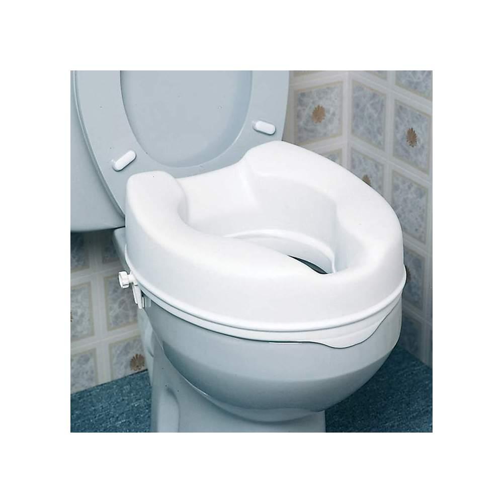 Sedile WC sollevamento di 15 cm -  Wc altezza di sollevamento 15 cm economico ma efficace e sicuro ascensore è completamente in plastica sigillata che resiste odori e manchass