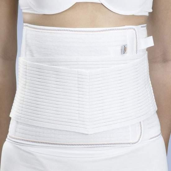 GAZA sventramenti A-132 -  cintura lombosacrale per sventramenti, realizzato in tessuto multibanda con le balene posteriori flessibili e sistema di chiusura a velcro.