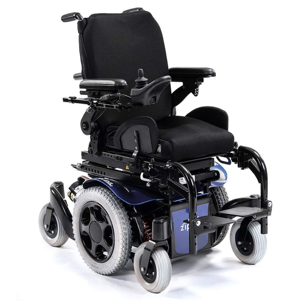 Salsa M2 Mini Electric Wheelchair -  The electric wheelchair for children Zippie Salsa M2 Mini offers incredible maneuverability thanks to its base of only 52 cm wide and small turning radius provides central...