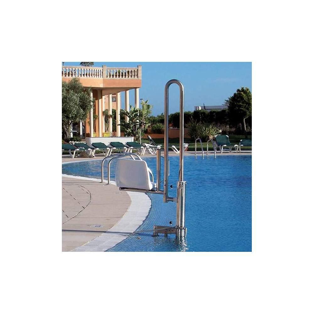 Grúa para piscina desmontable PK - Elevador hidráulico portátil, desmontable. Se desmonta en tan solo tres minutos.
