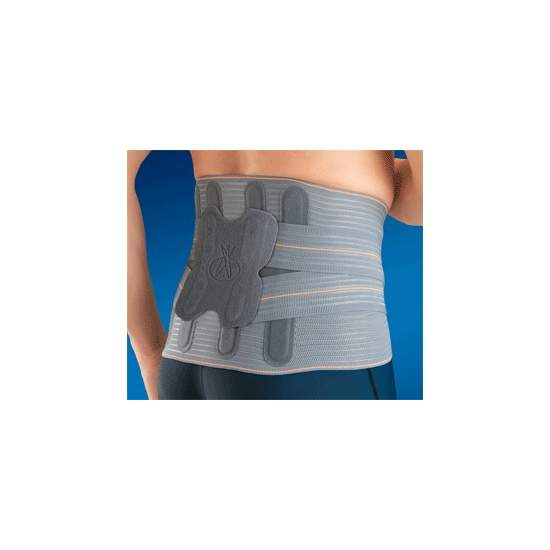 "FAJA SACROLUMBAR SEMIRRIGIDA ""LUMBITRON ELITE DUO"" LTG-305 - Multiband made of breathable material, which provides a uniform compression to be made with a wireless stitching technique, avoiding annoying friction and loss of compression on the surface of the patient."