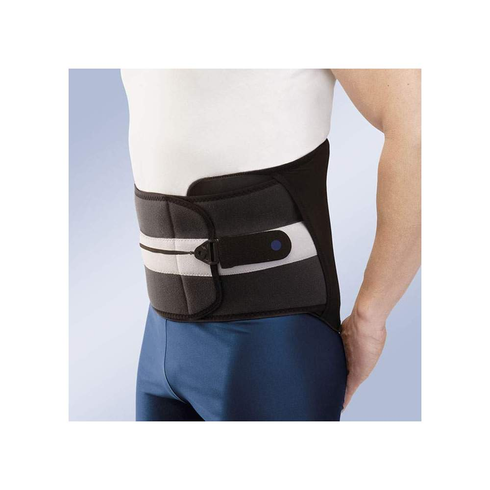 RIGID STARTER BRACE DYNAMIC FIX HIGH SD-104 -  The Star Brace Dynamic Fix corset consists of a rigid sacrolumbar orthosis made of breathable bilayer material composed of velor fabric in polyamide and Poromax® fabric interior