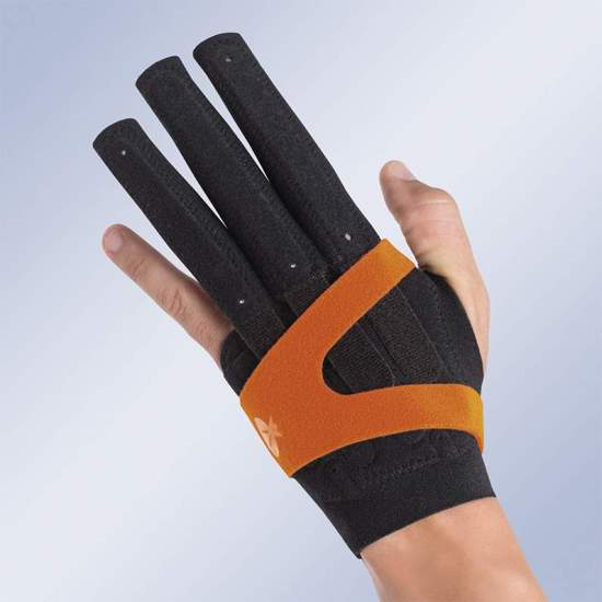M710 FINGER IMMOBILIZER GLOVE -  Glove for the immobilization of the metacarpophalangeal and interphalangeal joints in extension or flexion of the hand and fingers.