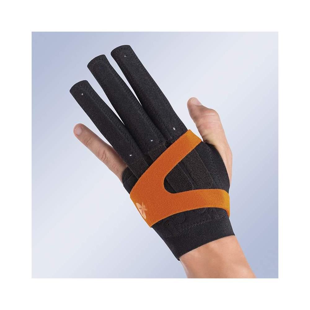 GANT FINGER IMMOBILIZER M710 -  Gant pour immobiliser les articulations métacarpophalangiennes et interphalangiennes en extension ou la flexion de la main et des doigts.