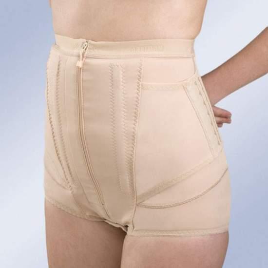 Pantaloncini corti FAJA PANTBRACE PF009 -  Un'altra forma di realizzazione della mutandina Pantbrace cintura è breve modello. Ref.: PF009, che vengono rimossi Camalès cosce lasciando questi al pube, indicata nei casi coscia contenimento non è necessaria.