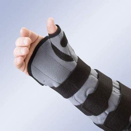 ELBOW BRACES WITH PALM AND THUMB SPLINT WITH CONTROL OF FLEXIBLE-EXTENSION 94302