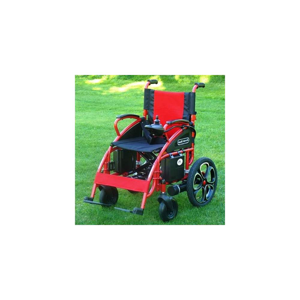 Wheel Chair Release Power Chair Sport - Electric wheelchair Release Power Chair Sport. Equipped with a sporty design (bodywork and red upholstery, large wheels with Sport tires, black tires ...) and greater...
