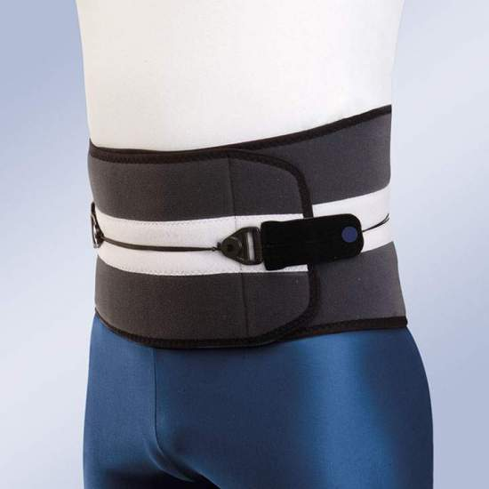 STAR BRACE DYNAMIC HIGH SD101 SEMIRRIGIDA -  The Star Brace Dynamic girdle consists of a semi-rigid sacrolumbar orthosis made of breathable bilayer material composed of velor fabric in polyamide and Poromax® fabric interior