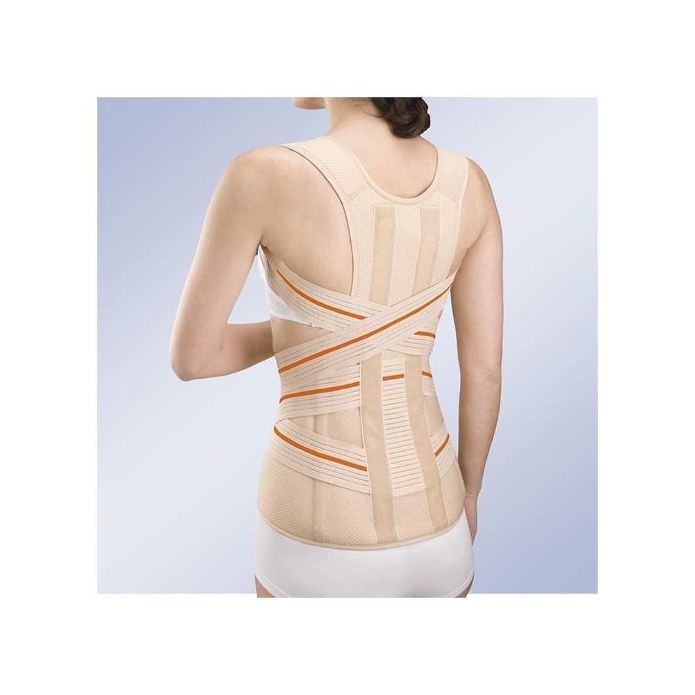 Fajã thoracolumbar ABDOMEN PENDULUM 3TEX Lumbo -  Fabricado em tecido de camada tripla (algodão - espuma - poliéster), semi - rígidos, respirável, especialmente concebido para a máxima respirabilidade.