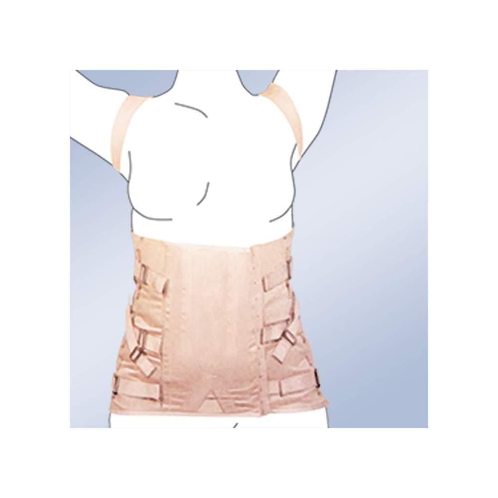 Thoraco FAJA SEMIRRIGIDA LADY corseterie 2030-S -  matériau en bande thoracolombaire étant faite de 100% coton ceintures de boucle de fermeture, les attelles en plastique et câble en acier - la régulation latérale. Norme de...