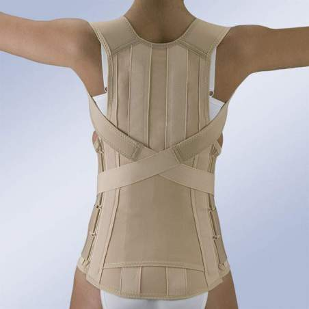 DORSOLUMBAR BELT SEMIRRIGIDA CLOSURE VELCRO WITH ABDOMEN PENDULUM FX-215