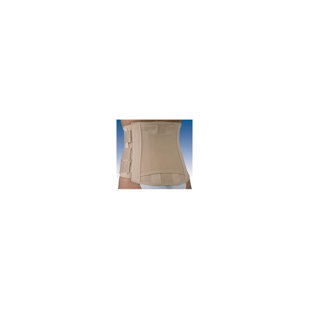 Bande velcro COURT SEMIRRIGIDA lombo-sacrée FX-211 - Fabriqué à partir de rigide lombo-sacrée tissu fascia avec la majeure partie de coton semi-élastique, baleines anatomiques ultérieures système de multiplicateur de force...