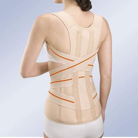 FAJA thoraco 3TEX LUMBO -  J'adapté tricouche de tissu (coton -poliéster-mousse), semi - rigide et perméable à l' air, spécialement conçu pour un maximum de respirabilité.