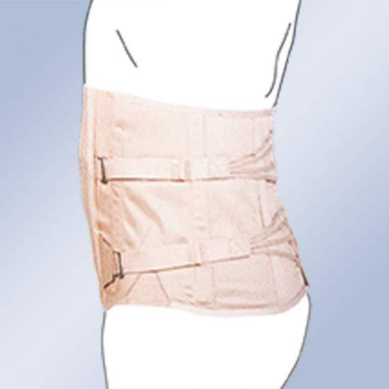 Fajã lombosacral Semirrigida EVENTRATIONS CABALLERO lingerie -  material de tira Toracolombar sendo feito 100% de algodão cintos de fivela de fecho, as baleias cabo de plástico - regulação lado.