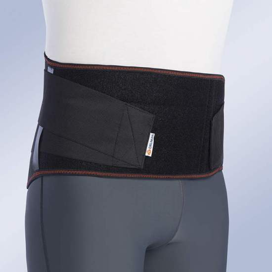 HIGH PROTECTION WORK PROTECTION T-421 -  Elastic fabric girdle with 4 perforated and adaptable steel whales plus front whales to give greater consistency and abdominal support.