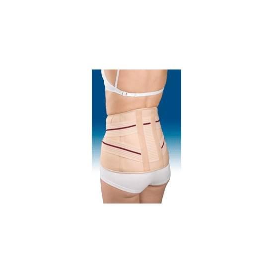Courte bande 3TEX LUMBO lombo 6211 - Fait de tissu à trois couches (coton-mousse - Polyester), semi-rigide et respirant