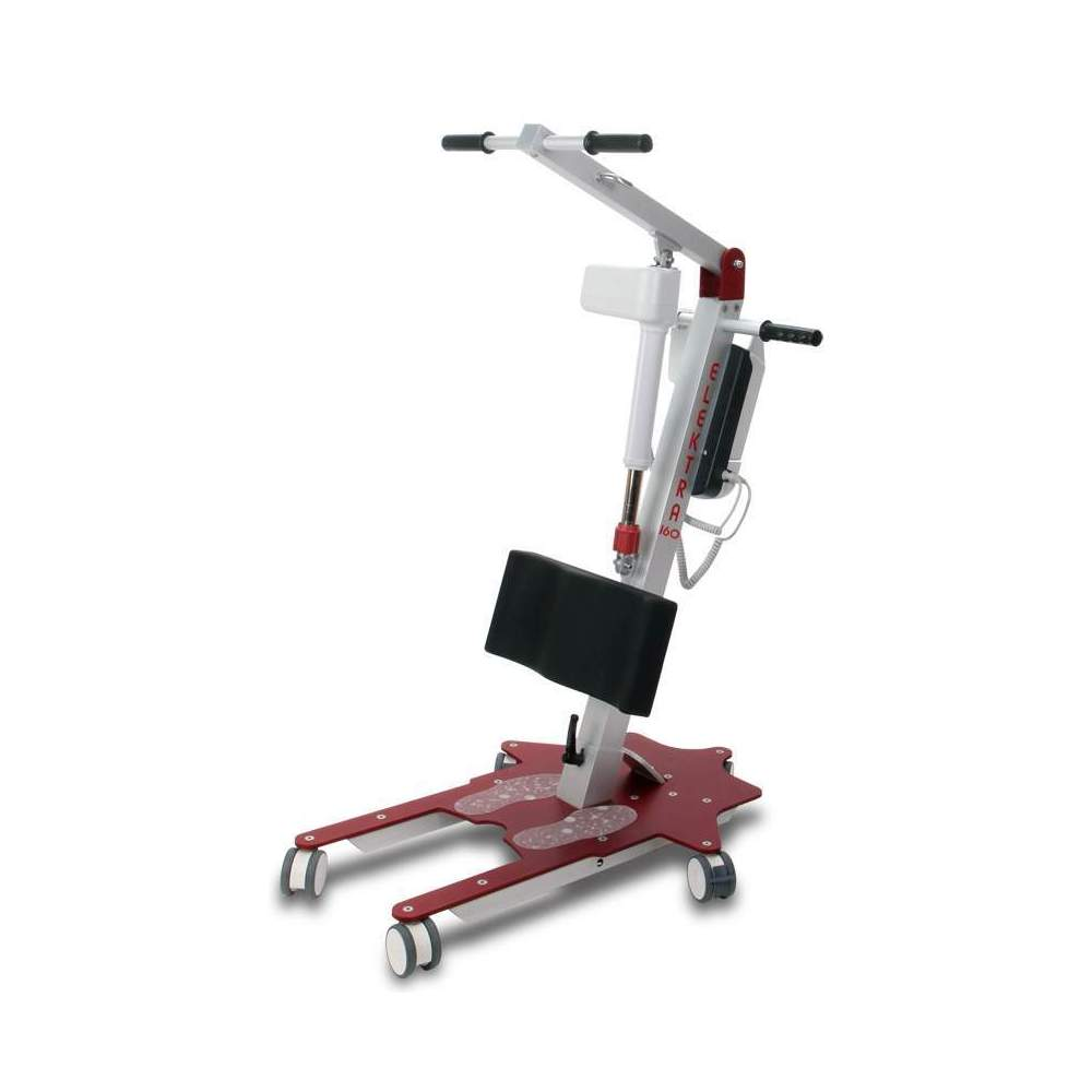 Grille Elecktra 160 -  The Elektra 160 aluminum standing crane allows the patient to be transferred easily from a sitting position to partial or full incorporation and displacement without effort.
