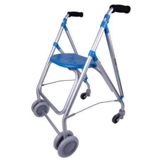 Aluminum walker ARA PLUS - Aluminum walker ARA PLUSof Forta with seat and pressure brakes