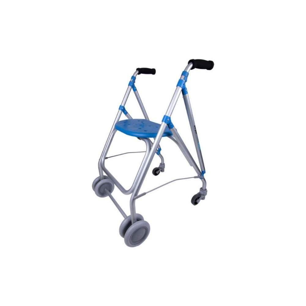 Andador de aluminio ARA PLUS - Andador de aluminio ARA PLUS de Forta con asiento y frenos de presión