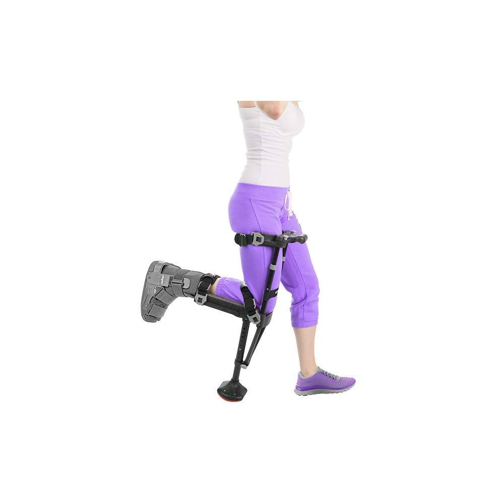 iWALK2.0 The hands-free crutch -  Why use crutches with arms when a leg crutch works much better? It allows freedom with the hands. Painless mobility for injuries in the lower legs. Ease of use and learning....