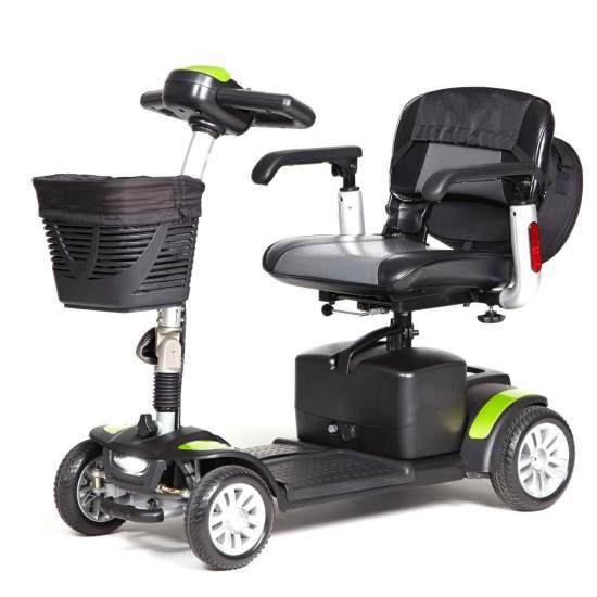 ECLIPSE + scooter de luxe pliable et amovible - Le scooter ECLIPSE +offre de belles finitions et un équipement standard exceptionnel. Il intègre un sac amovible avec poignée. Il est également équipé d'un sac à dos de grande capacité à l'arrière du siège.