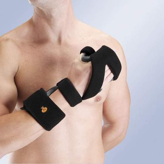 Ferula atordoar-POLEGAR palma da mão ALUMÍNIO OM6101 maleável - Feito com núcleo de alumínio maleável para permitir o ajuste adequado e posicionamento como prescrição do punho, de mão e dos dedos, incluindo o polegar.