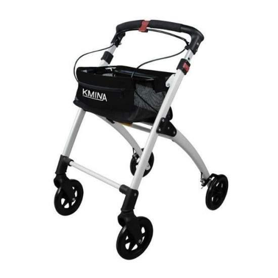 Andador Kmina - O andador Kmina é leve, confortável, dobrável, elegante e fácil de usar. A sua estrutura de alumínio e as suas quatro rodas sólidas tornam-no num andaime leve, ao mesmo tempo muito robusto e seguro. Incorpora uma cesta de objetos, uma...