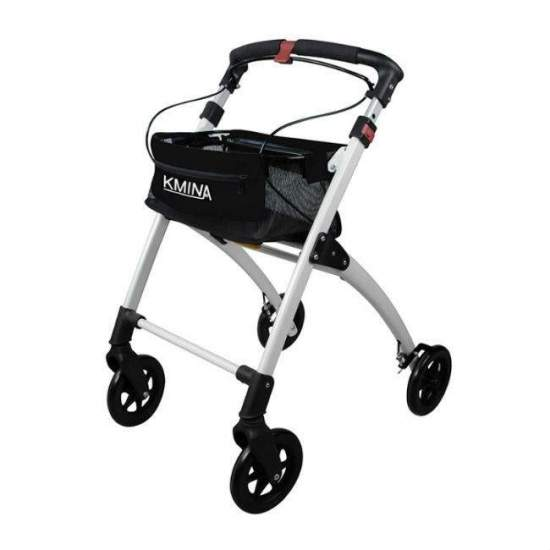 Kmina walker - The Kmina walker is lightweight, comfortable, foldable, elegant and easy to use. Its aluminum structure and its four solid wheels make it a light walker at the same time very robust and safe. It incorporates an object basket, a tray and...