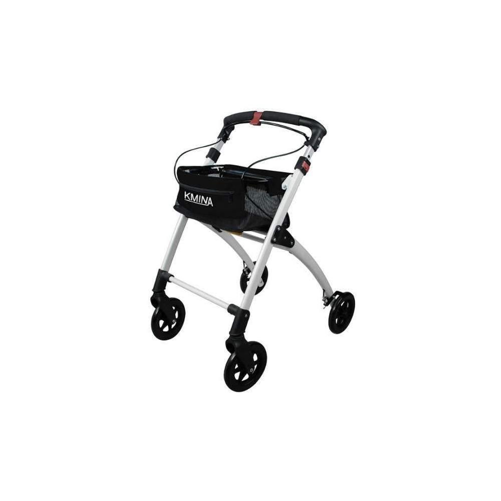 Andador Kmina - O andador Kmina é leve, confortável, dobrável, elegante e fácil de usar. A sua estrutura de alumínio e as suas quatro rodas sólidas tornam-no num andaime leve, ao mesmo tempo...