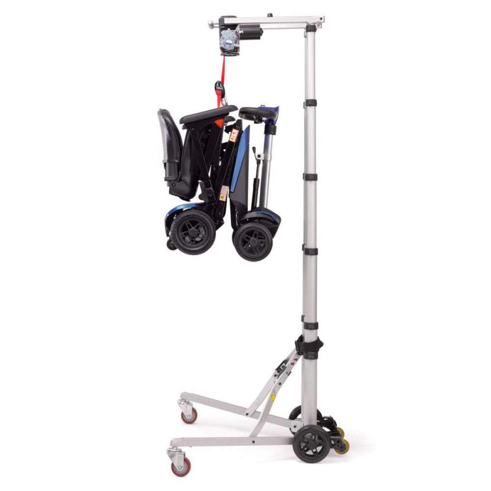 Hercules crane for lifting scooters and wheelchairs - TheHercules crane it is an electric mechanism that allows to lift / lower effortlessly all types of wheelchairs and scooters (up to 30 kg).
