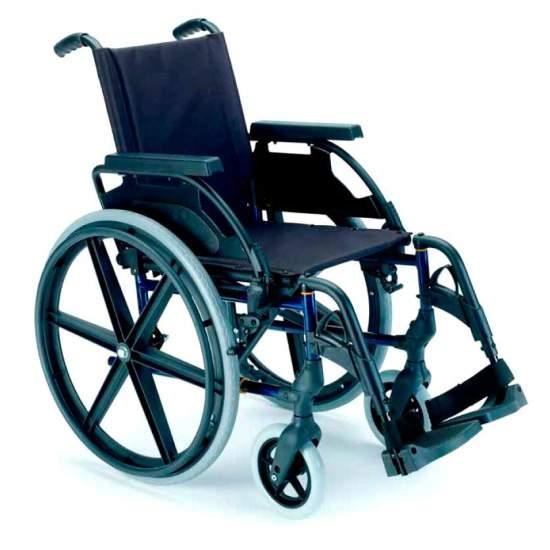 Breezy Premium Standard Ruedas grandes - Silla de ruedas plegable Breezy Premium autopropulsable ruedas grandesLa silla de ruedas de acero con más modelos y opciones. Y con el mejor servicio