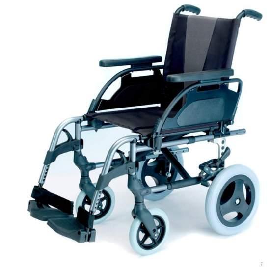 Silla de ruedas Breezy Style - Silla de aluminio Brezzy Style ruedas pequeñas o de tránsito plegable para facilitar su transporte