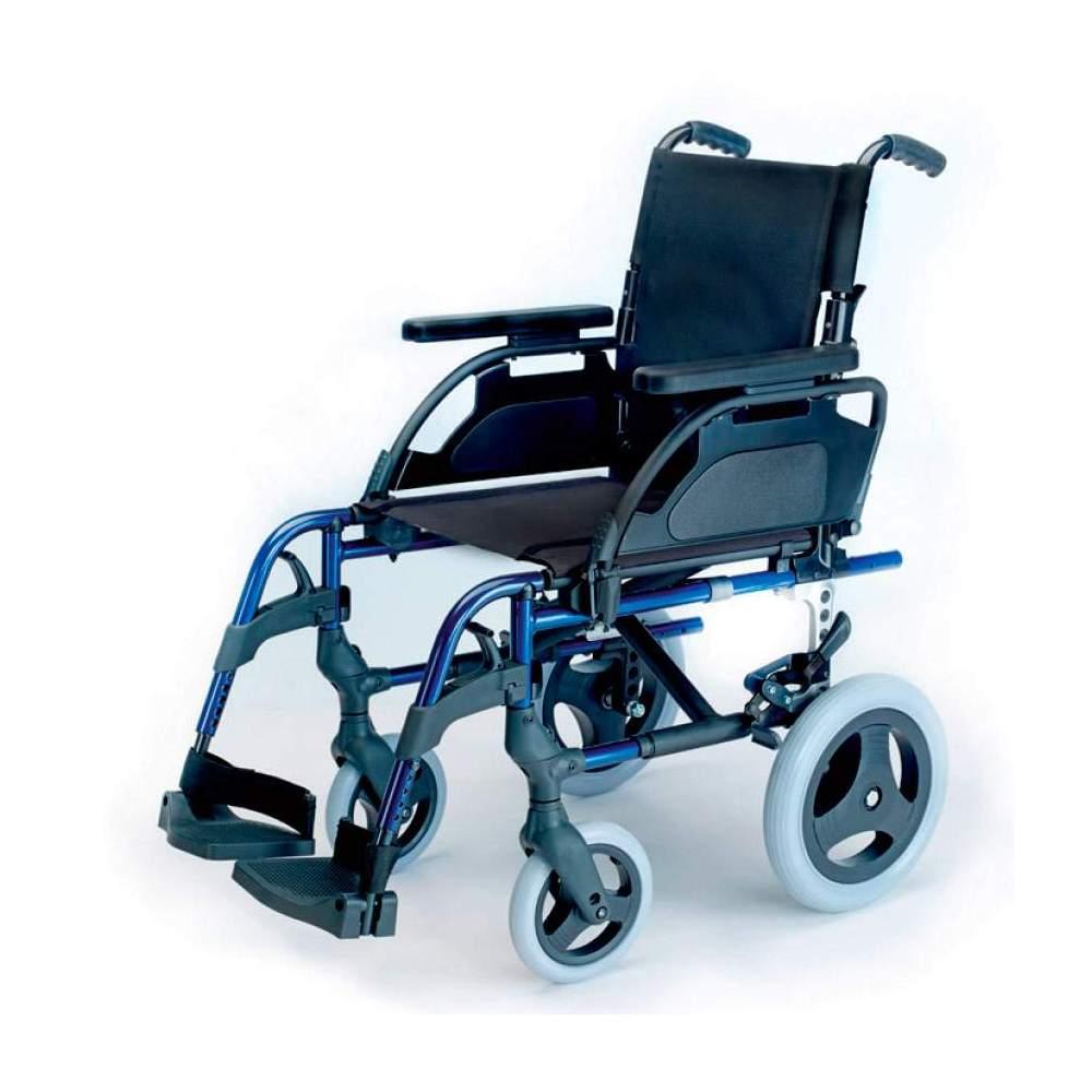 Silla Breezy Style Respaldo partido - Silla de aluminio Brezzy Style Respaldo Partido ruedas pequeñas o de tránsito plegable para facilitar su transporte