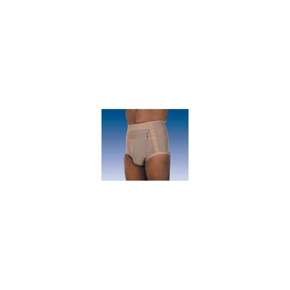 HERNIE SLIP S-120 S-121 - Glissez tissu fabriqué avec une élasticité différente à différents points, deux types de pad (à plat ou anatomique), sous réserve de la bande du scrotum de l'abdomen avec...
