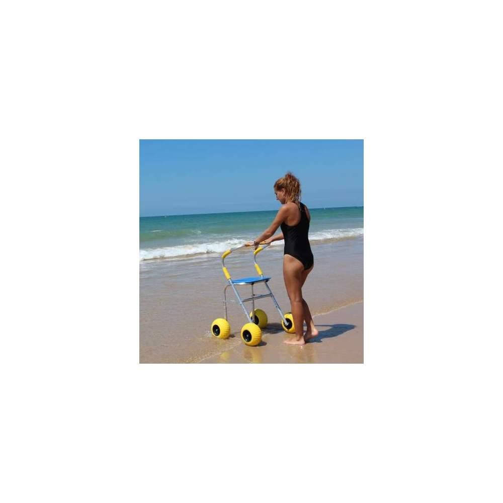 Walker Beach - Walker de 4 ruedas con asiento especial para Playas