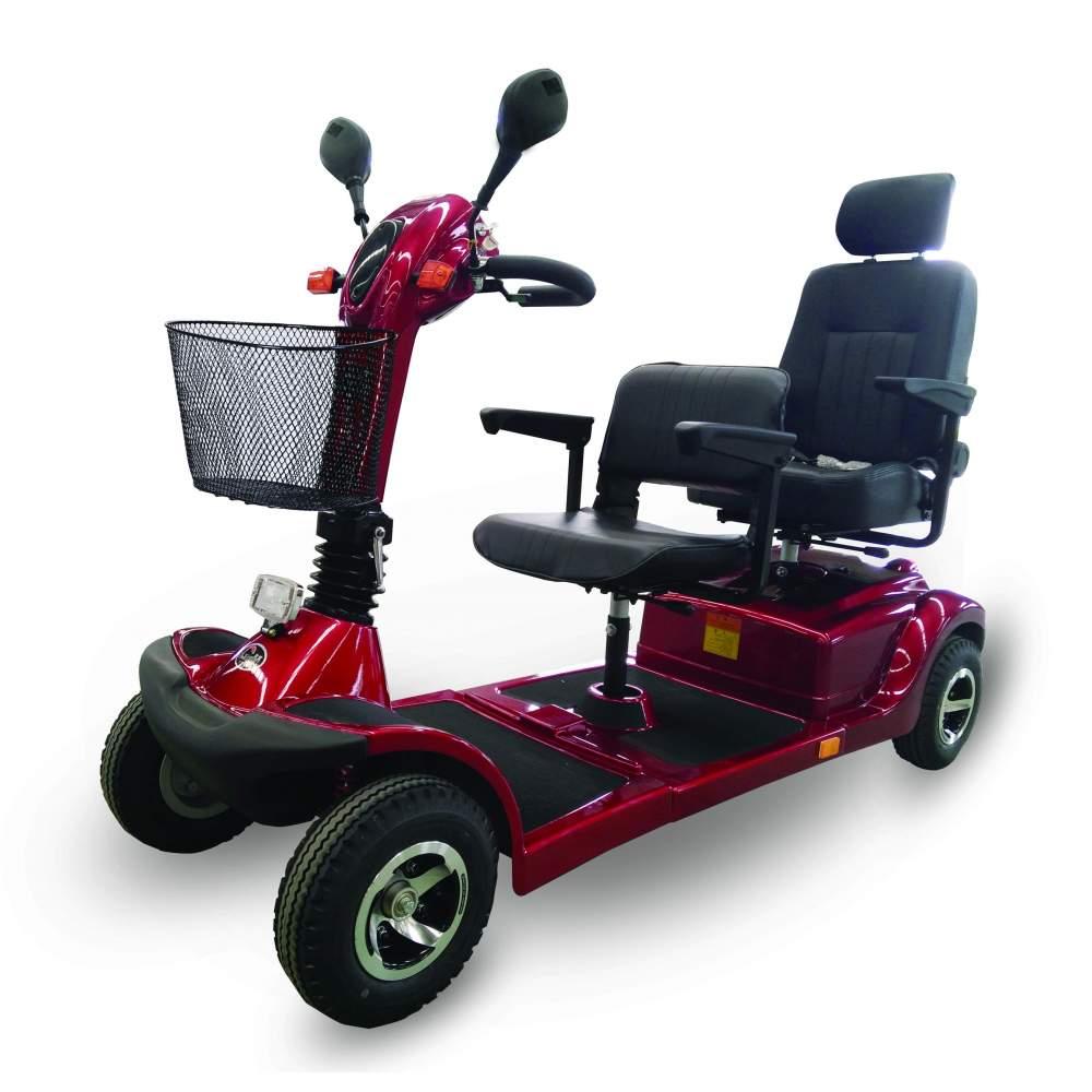 Scooter eléctrico Nico 9055-E (DOBLE) - Este modelo permite que dos personas circulen en el mismo scooter teniendo cada uno un espcaio independiente.