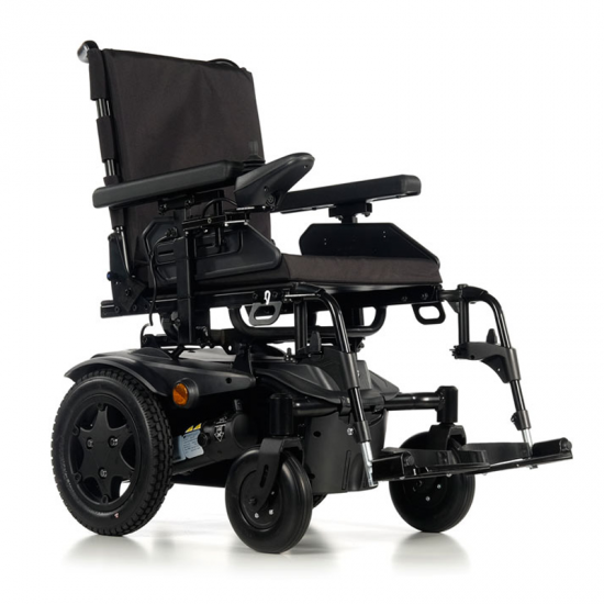 Wheelchair Q100 R -  Electric wheelchair. The QUICKIE Q100 R is the new standard ultra-compact electric wheelchair inside and outside for your daily performance.  Ultra-compact and adjustable standard interior / exterior electric wheelchair