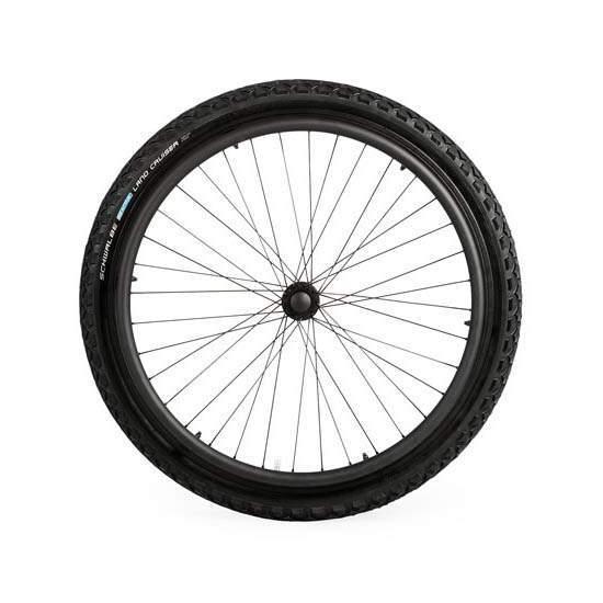 """Ruote fuoristrada 24 """"x2"""" - Equipaggia la tua sedia a rotelle con queste ruote fuoristrada per muoverti comodamente su terreni instabili."""