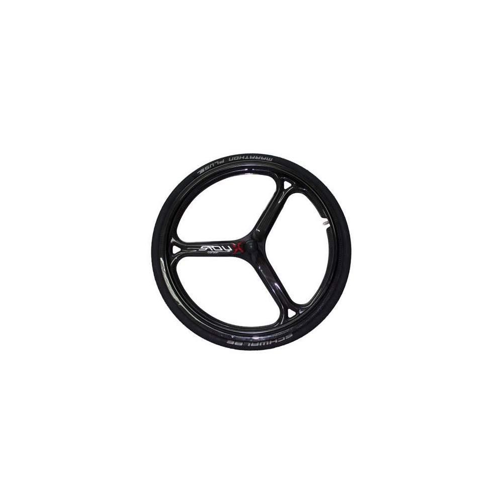 Ruedas Sioux fibra de carbono - Ruedas SiouXX TriCarbon, posiblemente las ruedas para silla de ruedas más ligeras (740gr) y aerodinámicas del mercado, fabricadas íntegramente en carbono, su elaborado diseño...